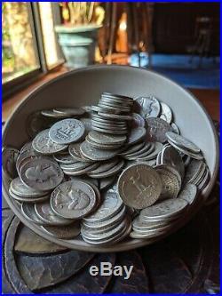1 One Pound 90% Silver Washington Quarters FULL DATE Pre-1964 Survival Silver