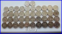 £1 One Pound Coin. Full Set 42 Coins (all 24 Designs) 1983-2016 Capital, Floral