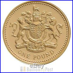 £1 One Pound Proof Gold Coin Lion Unicorn 2008