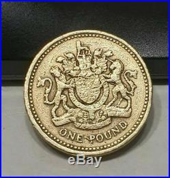 £1 Pound 1983 Royal Arms Crest Coin Old Style (First One Pound) Coin Hunt RARE