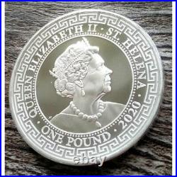 1 Pound 2020 St. Helena 1 Oz Ag French Trade Dollar Silver Mintage 5000