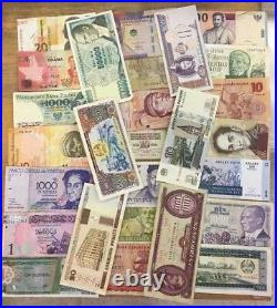 1 Pound Select MIX Of Circulated World Banknotes, +/- 500 Notes, 150+ Varieties