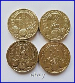 £1 Rare One Pound Coins UK Coin Hunt (Edinburgh, Flax, Cardiff, Royal Arms)