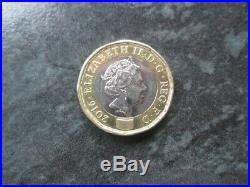 £1 one pound TRIAL Piece 2016. 100% Genuine. Very rare. With micro lettering