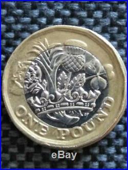 £1 one pound coin error mistrike misprint