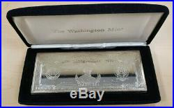 $10,000 One Troy Pound Proof. 999 Silver Note Bar with Case