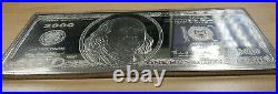 $100 One Troy Pound Proof. 999 Silver Note Bar with Case and COA
