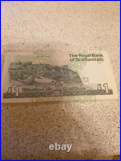 100 x Uncirculated Royal Bank Of Scotland £1 One Pound Banknotes RBS 2001 UK
