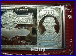 16 TROY OZ. 999 FINE SILVER ONE POUND SILVER CERTIFICATE PROOF WithCERT