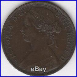 1864 Victoria Crosslet 4 One Penny Scarce British Coins Pennies2Pounds