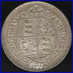 1887 Victoria Silver Proof One Shilling Coin British Coins Pennies2Pounds