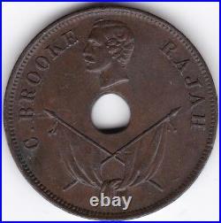 1894 H Sarawak One Cent Pennies2Pounds