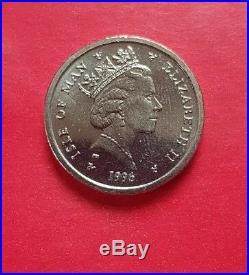 1896 1996 IOM £1 one pound coin Crest Centenary of Douglas Corporation UNC o2