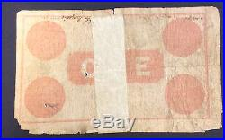 1898 bank of New South Wales one pound note 4th April 1898 missing lower corner