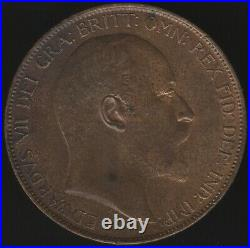 1904 Edward VII One Penny Coin British Coins Pennies2Pounds