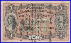 1910 One Pound Note Superscribed Collins Allen National Bank of Australasia RS50