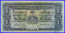 1918 One Pound Cerutty/Collins R21 Extremely Fine