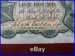 1923 Australian One Pound Note Miller/Collins EF/aUNC