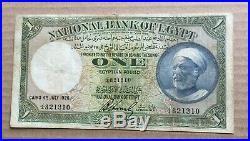 1926 Egypt One 1 Pound FALAH Banknote P20 Hornsby Signature Prefix J/4 821310