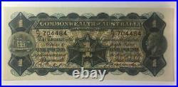 1927 Australian One Pound Banknote Riddle/Heathershaw EF K7 704484