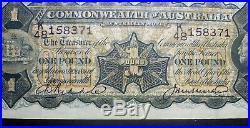 1927 CoA One Pound Note Riddle/Heathershaw VF+