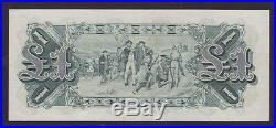 1927 Commonwealth Australia One Pound Banknote Riddle Heathershaw N-444