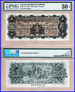 1927 One Pound KGV Commonwealth of Australia. PMG Cert VF30 EPQ. Renniks R26