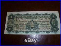 1927 One Pound Note Riddle/Heathershaw EF +
