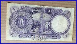 1928 Egypt One 1 Pound FALAH Banknote P20 Hornsby Signature Prefix J/8 868196