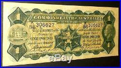 1932 Australia Riddle/Sheehan £1 One Pound banknote