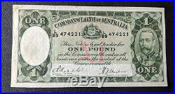 1933 R28 Commonwealth of Australia £1 One Pound Riddle/Sheehan VF