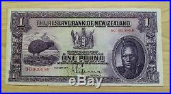 1934 The Reserve Bank of New Zealand One Pound £1 Maori Chief Banknote