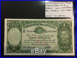 1949 Australian One Pound note Coombs/Watt Last Prefix Unc