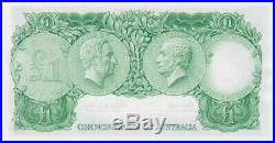 1961 One Pound Consecutive Pair Coombs/Wilson R34B Uncirculated