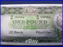 1961 One Pound Star Note Coombs-Wilson aUNC