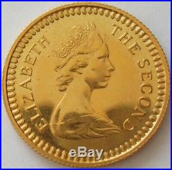 1966 Rhodesia Elizabeth II Gold Proof One Pound Coin With Original Case