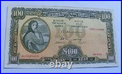 1973 Irish One Hundred Pound Banknote Ireland £100 Note Nice Example Lavery