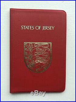 1983 1989 JERSEY £1 One Pound Parishes Set Job Lot 10 Coins UNC in Red Folders