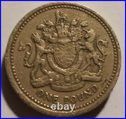 1983 Elizabeth II One Pound Error Coin Upside Down Super Rare
