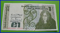 1983 Irish One Pound Notes Three Replacement Banknotes In Sequence Ireland £1