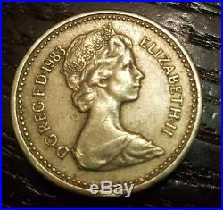 1983 One pound coin Royal Arms representing the United Kingdom
