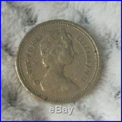 1983 Rare Old One Pound £1 Royal Arms Coin Error Upside Down DECUS ET TUTAMEN