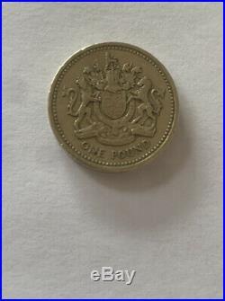 1983 Royal Arms One Pound Münze Seltener Druckfehler DECUS ET TUTAMEN Kopfüber