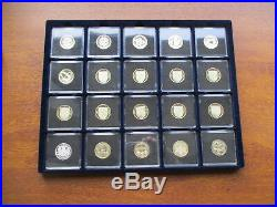 1983 to 2018 EVERY PROOF £1 ONE POUND 46 proof & 1 silver proof 2015