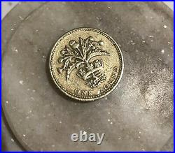 1984 Old Rare £1 One Pound Coin -Thistle