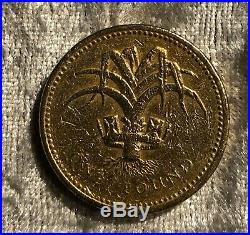 1990 UK ROYAL MINT WALES LEEK ONE POUND COIN £1 circulated