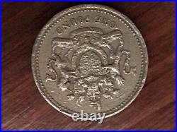 1993 Elizabeth II One Pound Error Coin Upside Down Super Rare