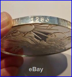 1994.999 Fine Silver Giant One Pound Silver Eagle, Beautiful Proof Strike