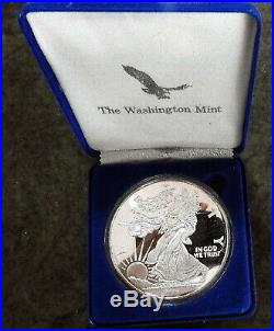 1994 ONE TROY Pound 16 OUNCE Silver COIN Walking Liberty EAGLE Low Mintage CASE