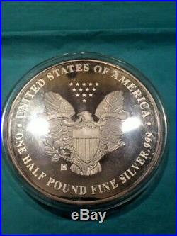 1994 One Half Pound Fine Silver. 999 Walking Liberty 8 Troy Oz